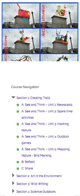 Course navigation image