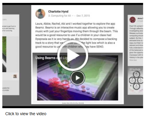 Using blogs and communities for student assessent video link