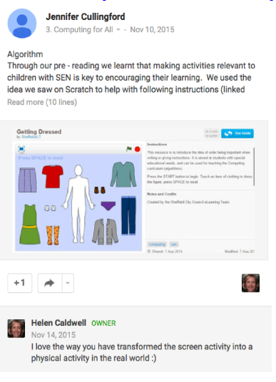 Example student posts image 1