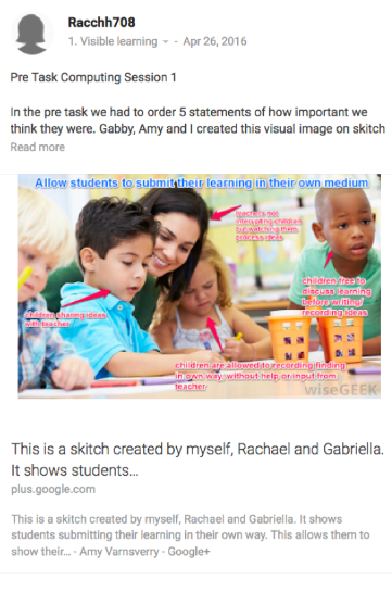 Example student posts image 3